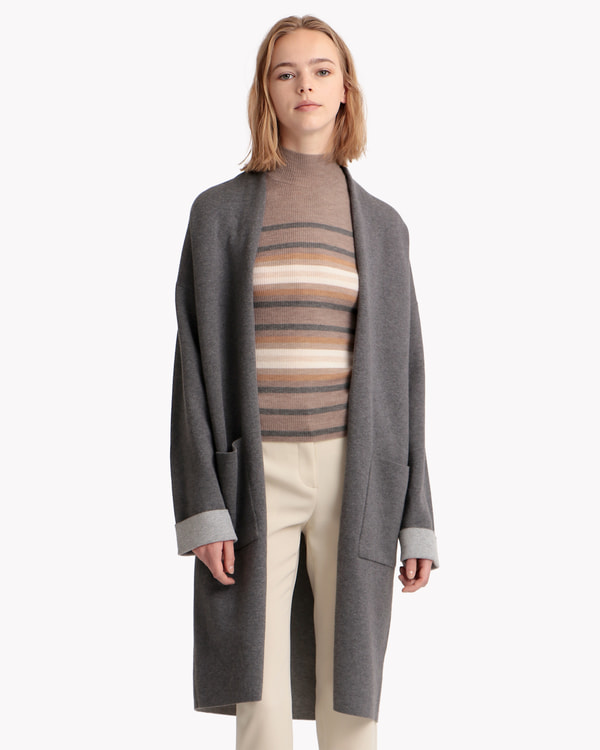 【Theory】Cash Cotton Double Face Cardigan