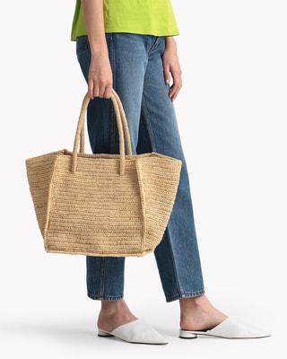 <Theory セオリー>送料無料Maison Nh Paris Raffia Toto ナチュラルな素材感が魅力のトートバッグ。