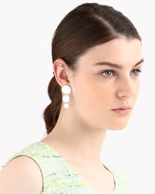 <Theory セオリー>送料無料Saskia Diez Paillettes Earrings 円形のプレートを連ねたピアス。
