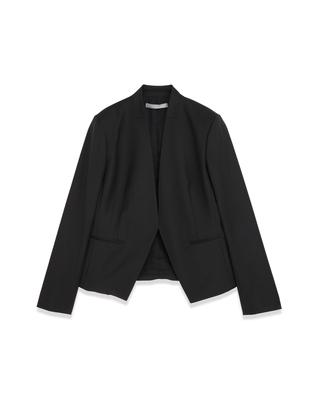 <Theory セオリー>送料無料Executive Donna シャープな衿のカッティングが美しい、ノーカラージャケット。