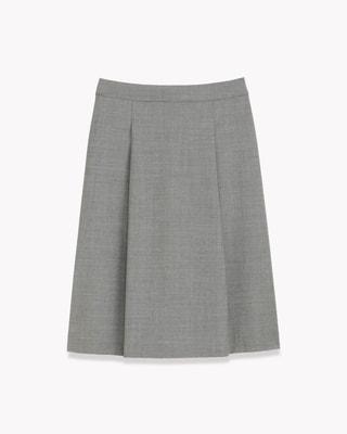 <Theory セオリー>送料無料【スモール】Executive Shella Str【新色チャコールグレー登場】【SMALL SIZE】【小さいサイズ】フロントにタックの入った新型フレアスカート。