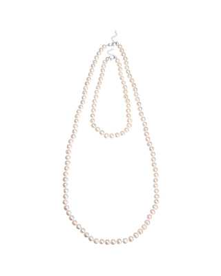 <Theory セオリー>送料無料Kong qi Pearl Necklace ショートレングス&ロング丈の二本をセットにした淡水パールネックレス。