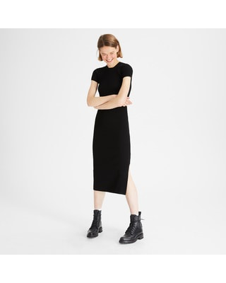<Theory> 送料無料 Wooster Crepe Knit Basic Crew SS Dress