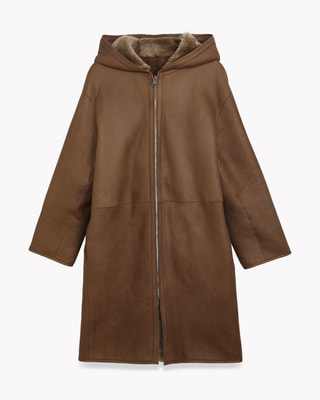 <Theory> 送料無料 Silky Shearing 2 Hooded Coat SH