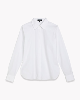 <Theory> 送料無料 Core Shirting Classic Fitted Shirt