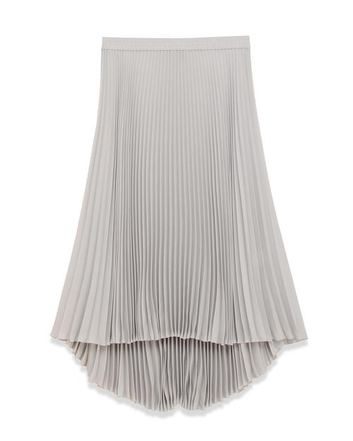 送料無料 装いをエレガントに印象付ける、ミッドレングスのプリーツスカート Soft C P Dorothea M