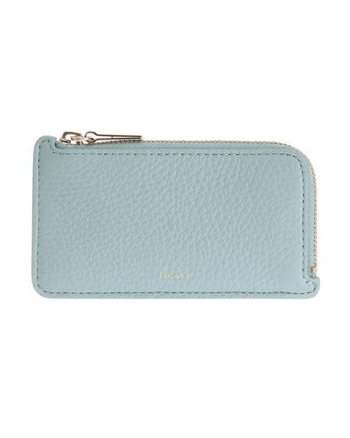 送料無料 スカイブルーが爽やかなカードケース Card Case W Zip