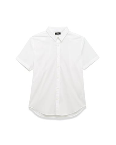 <Theory> 送料無料 基本中の基本アイテムと言える、ベーシックなドレスシャツの半袖タイプ Luxe Zack PS S A