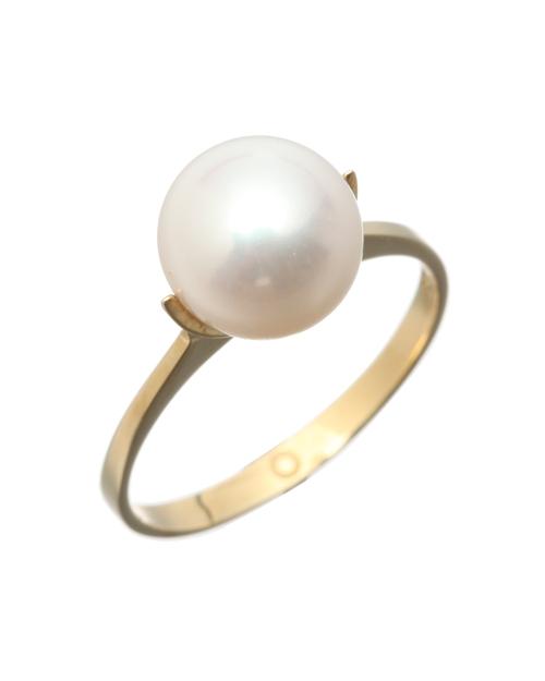 送料無料 ナチュラルな輝きを放つ一粒パールのリング Saskia Diez Pearlpop Ring