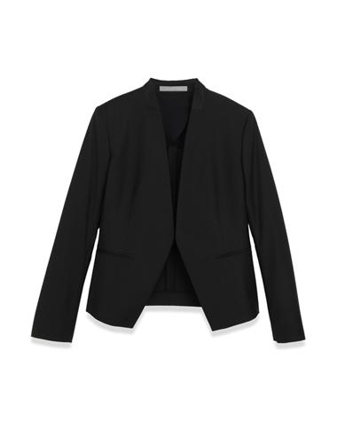 <Theory> 送料無料 【背抜きタイプ】シャープな衿のカッティングが美しい、ノーカラージャケット Executive Donna 背抜き