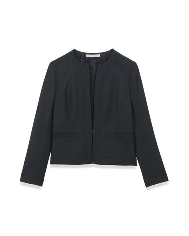 <Theory> 送料無料 【新色ブラック登場】コンパクトなシルエットのノーカラージャケット Executive Nikkia N